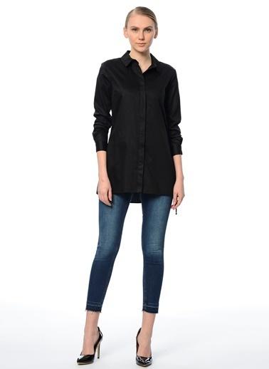 Uzun Slim Fit Gömlek-Que